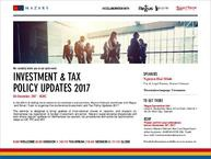 INVESTMENT AND TAX POLICY UPDATES 2017