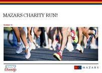 Mazars Charity Run - Sponsorship Package
