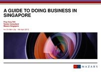 A guide to doing business in Singapore